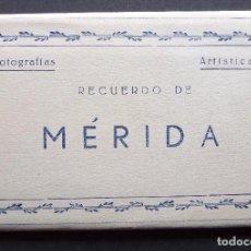Postales: ANTIGUA CARPETA DE 10 POSTALES RECUERDO DE MÉRIDA, EDICIONES ARRIBAS, VER FOTOGRAFÍAS Y COMENTATIOS. Lote 95930299