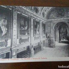 Postales: MONASTERIO DE GUADALUPE- LA SACRISTÍA Y LIENZOS DE ZURBARÁN. FOTOTIPIA THOMAS.. Lote 96788951
