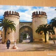 Postales: ANTIGUA POSTAL PUERTA DEBLAS PALMAS GUARDIA URBANO BADAJOZ EXTREMADURA. Lote 97424227