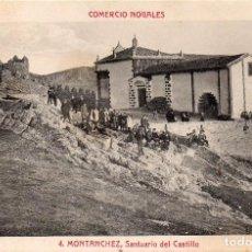 Postales: MONTANCHEZ (CACERES), M. BARREIRO, Nº 4 SANTUARIO DEL CASTILLO -COMERCIO NOGALES- SIN CIRCULAR. Lote 97683319