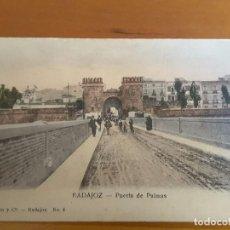 Postales: POSTAL DE BADAJOZ - PUERTA DE PALMAS (ANTERIOR A 1905). Lote 98035475