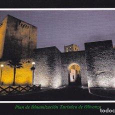 Postales: POSTAL PUERTA DE SAN SEBASTIAN Y TORRE DEL HOMENAJE. OLIVENZA. BADAJOZ. Lote 98596131