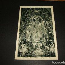 Postales: FREGENAL DE LA SIERRA BADAJOZ ERMITA NUESTRA SEÑORA DE LOS REMEDIOS LA VIRGEN EN SU TRONO. Lote 99969535