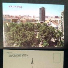 Postales: BADAJOZ - SPAIN - PASEO DEL GENERAL FRANCO - OLD POSTCARD. Lote 100045247