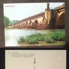 Postales: BADAJOZ - SPAIN - PUENTE DE PALMAS - OLD POSTCARD. Lote 100045439
