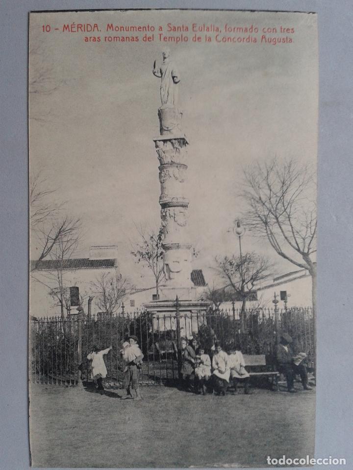 MÉRIDA. MONUMENTO A SANTA EULALIA. (Postales - España - Extremadura Antigua (hasta 1939))