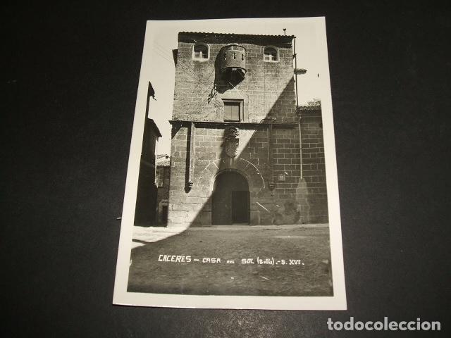CACERES CASA DEL SOL SOLIS SIGLO XVI (Postales - España - Extremadura Antigua (hasta 1939))