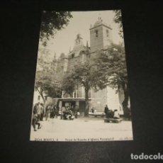 Postales: DON BENITO BADAJOZ PLAZA DE ESPAÑA E IGLESIA PARROQUIAL. Lote 102763771