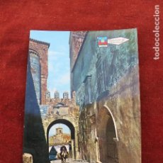Postales: POSTAL TRUJILLO, PUERTA DE SANTIAGO, HOMBRE EN BURRO. Lote 107216331