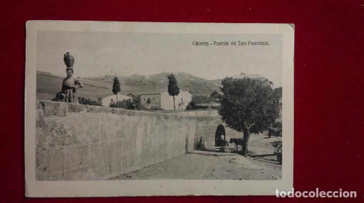 PZ-21.- POSTAL DE --CACERES--, PUENTE DE SAN FRANCISCO .- EDICION BLASCO .- SIN CIRCULAR (Postales - España - Extremadura Moderna (desde 1940))
