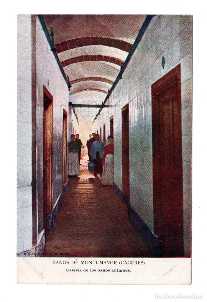 BAÑOS DE MONTEMAYOR.(CÁCERES).- GALERÍA DE BAÑOS ANTIGUOS. IMP. ALEMAN (Postales - España - Extremadura Antigua (hasta 1939))