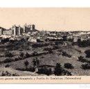 Postales: EXTREMADURA.- VISTA GENERAL DEL MONASTERIO Y PUEBLA DE GUADALUPE. Lote 110973575