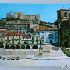 Postales: ANTIGUA TARJETA POSTAL TRUJILLO (CACERES) PLAZA MAYOR - AÑOS 60 - CIRCULADA. Lote 113374207