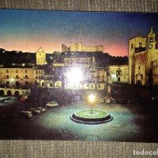 Postales: POSTAL TRUJILLO CACERES PLAZA MAYOT ILUMINADA. Lote 116433283