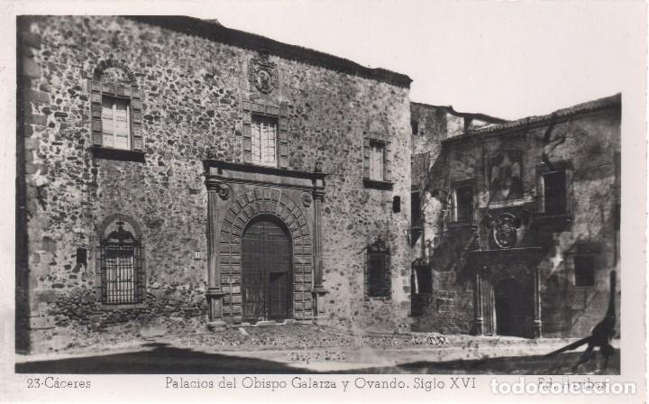 CACERES PALACIOS DEL OBISPO GALARZA Y OVANDO SIGLO XVI ED ARRIBAS (Postales - España - Extremadura Moderna (desde 1940))