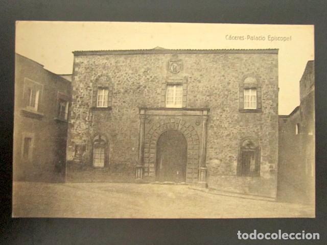 POSTAL CÁCERES. PALACIO EPISCOPAL. (Postales - España - Extremadura Antigua (hasta 1939))