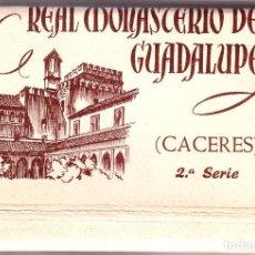 Postales: BLOC REAL MONASTERIO DE GUADALUPE. Lote 119249587