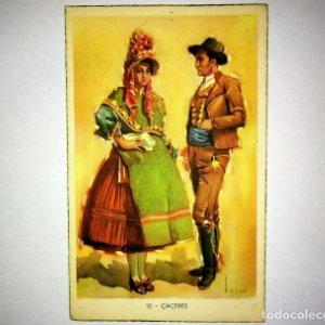 CÁCERES Tuser Postal Trajes tipicos españoles Laietana Serie 5507, 19 Cáceres extremadura