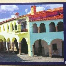 Postales: TARJETA POSTAL POSTALES PUBLICIDAD TURISMO CACERES DIPUTACION GARROVILLAS DE ALCONETAR PLAZA . Lote 121254779