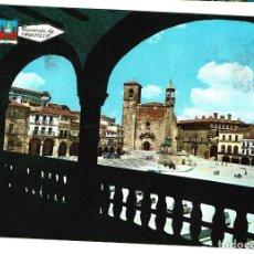 Postales: TRUJILLO PLAZA MAYOR CIRCULADA 6-4-1969 SELLO 1 PESETA SELLO RESELLO TRUJILLO EDICIONES PERGAMINO. Lote 121398475