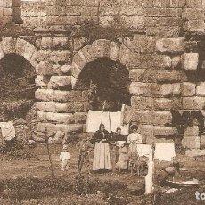 Postales: MÉRIDA ACUEDUCTO DE SAN LÁZARO CIRCULADA EN 1913. Lote 121424355