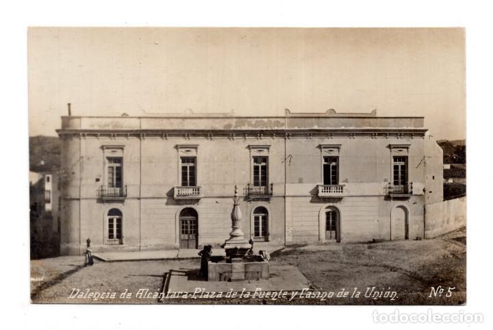 VALENCIA DE ALCANTARA - 5 -PLAZA DE LA FUENTE Y CASINO . - FOTOGRAFICA - ED SANCHEZ LUIS (Postales - España - Extremadura Antigua (hasta 1939))