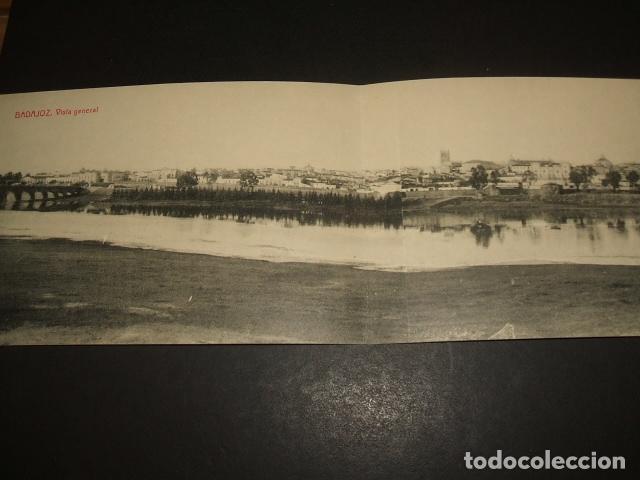 BADAJOZ VISTA GENERAL POSTAL DOBLE EDICION JOAQUIN SANCHEZ LOPEZ FOTOTIPIA THOMAS (Postales - España - Extremadura Antigua (hasta 1939))