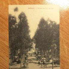 Postales: POSTAL BADAJOZ - 6. PARQUE DE PI Y MARGALL. Lote 124445967