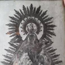 Postales: ANTIGUO CLICHÉ DE NUESTRA SEÑORA DE LA PIEDAD PATRONA DE ALMENDRALEJO BADAJOZ NEGATIVO EN CRISTAL. Lote 125242955