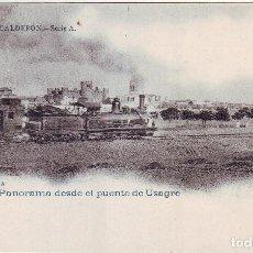 Postales: PB-237 ZAFRA PANORAMA DESDE EL PUENTE DE USAGRE. Lote 126310907