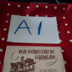 Postales: ANTIGUO BLOCK POSTALES REAL MONASTERIO DE GUADALUPE CACERES 2 SERIE HERACLIO FOURNIER. Lote 127508018