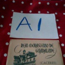 Postales: ANTIGUO BLOCK POSTALES REAL MONASTERIO DE GUADALUPE CACERES 3 SERIE HERACLIO FOURNIER. Lote 127508267