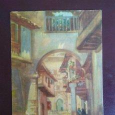 Postales: POSTAL ACUARELA DE J. RUIZ DE LUNA ARROYO. SIN CIRCULAR. CALLE DE GUADALUPE.. Lote 127537095