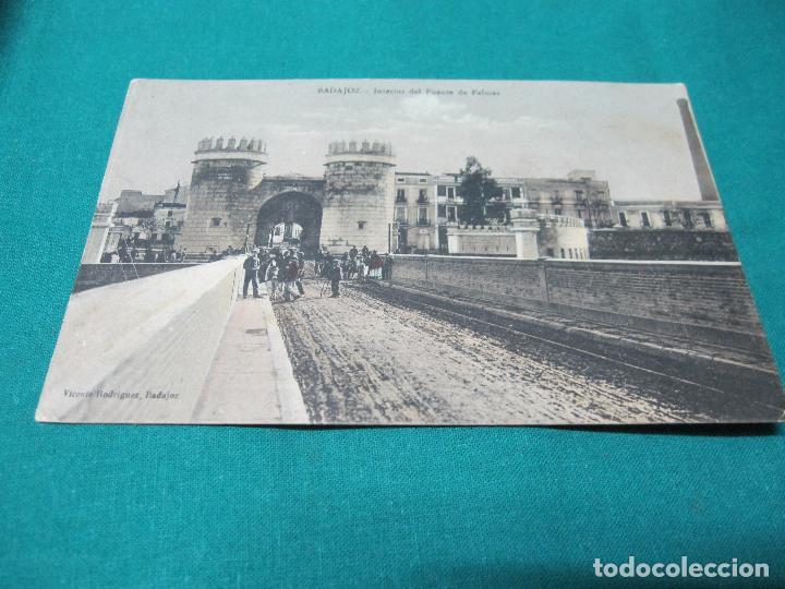 POSTAL ANTIGUA INTERIOR PUENTE DE PALMAS VICENTE RODRIGUEZ 26-8-1915 (Postales - España - Extremadura Antigua (hasta 1939))