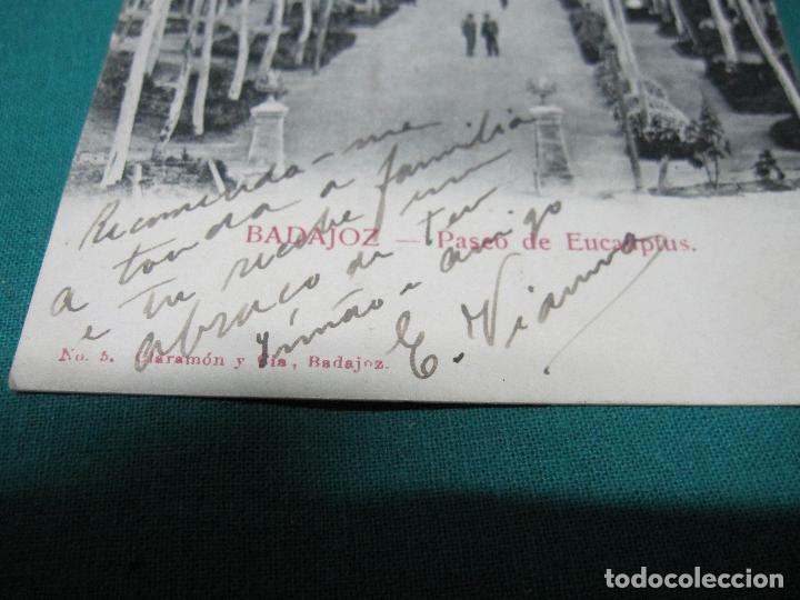 Postales: ANTIGUA POSTAL BADAJOZ PASEO DE LOS EUCALIPTUS Nº 5 CLARAMON Y CIA - Foto 2 - 127770431