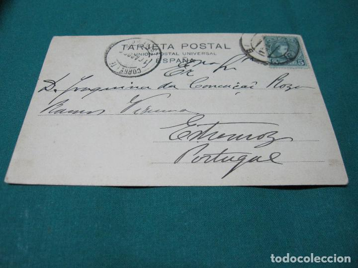 Postales: ANTIGUA POSTAL BADAJOZ PUENTE DE PALMAS Y BARRIADA ESTACION Nº 9 ESCRITA - Foto 3 - 127771587