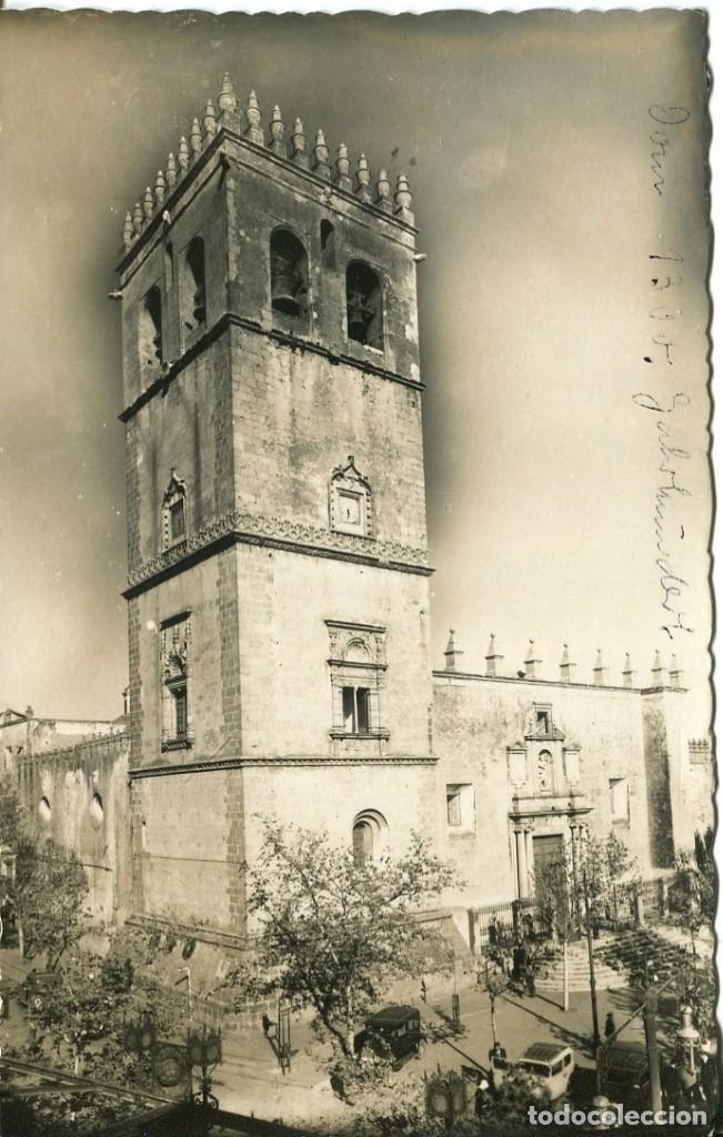 BADAJOZ-CATEDRAL- FFI Nº 16-FOTOGRÁFICA- AÑOS 50- RARA (Postales - España - Extremadura Moderna (desde 1940))