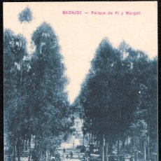 Postales: POSTALES - BADAJOZ. PARQUE DE PI Y MARGALL.. Lote 128476291