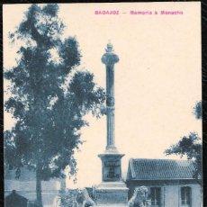 Postales: POSTALES - BADAJOZ. MEMORIA A MENACHO.. Lote 128476343