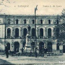 Postales: BADAJOZ-TEATRO L. DE AYALA- LA LUZ Nº 4- RARA. Lote 128653067