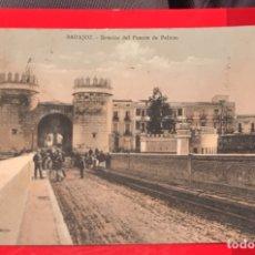Postales: BADAJOZ. INTERIOR DEL PUENTE DE PALMAS. VICENTE RODRÍGUEZ. COLOREADA. PARTIDA. Lote 132847674