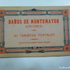 Postales: 14 POSTALES BAÑOS DE MONTEMAYOR CÁCERES HAUSER Y MENET BALNEARIO. Lote 133492614