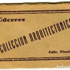 Postales: CÁCERES. ''COLECCIÓN ARQUITECTÓNICA''. EDICIÓN FLORIÁNO. CARPETA CON 10 POSTALES EN COLOR MARRÓN. Lote 133496206
