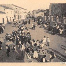 Postales: ALANGE.- PLAZA MERCADO DEL PUEBLO. Lote 133608110