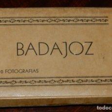 Postales: CUADERNILLO DE 20 FOTOGRAFIAS DE BADAJOZ, ED. MANUEL DURAN, LIBRERO ENCUADERNADOR, MIDE 9,5 X 6,5 CM. Lote 133836982