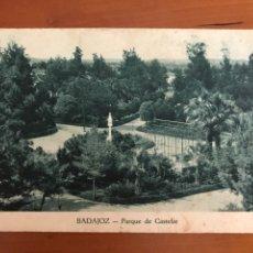 Postales: POSTAL DE BADAJOZ - PARQUE DE CASTELAR. Lote 134087041