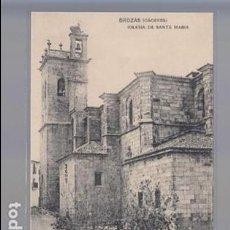 Postales: BROZAS (CÁCERES).- IGLESIA DE SANTA MARIA. Lote 136283994