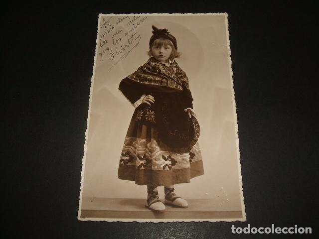 TRUJILLO CACERES NIÑA VESTIDA CON TRAJE TIPICO DE TRUJILLO POSTAL FOTOGRAFICA AÑOS 30 DIEGUEZ FOTOGR (Postales - España - Extremadura Antigua (hasta 1939))