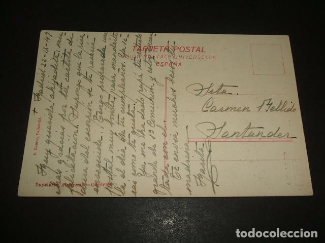 Postales: CACERES ARCO DEL CRISTO (BAJADA A LA FUENTE DEL CONCEJO) E. RAMOS VALLADOLID ED. PAPELERIA ALCOYANA - Foto 2 - 138861538