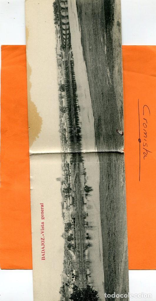 BADAJOZ ( POSTAL DOBLE ) -- NO CIRCULADA // ( EXTR2018 ) (Postales - España - Extremadura Antigua (hasta 1939))